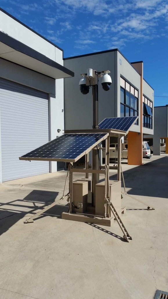 Portable CCTV Solutions Camera and Solar Panels