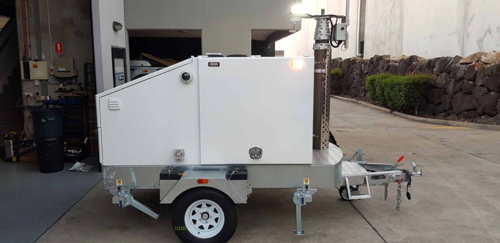 Mobile CCTV Trailer Camera Side View