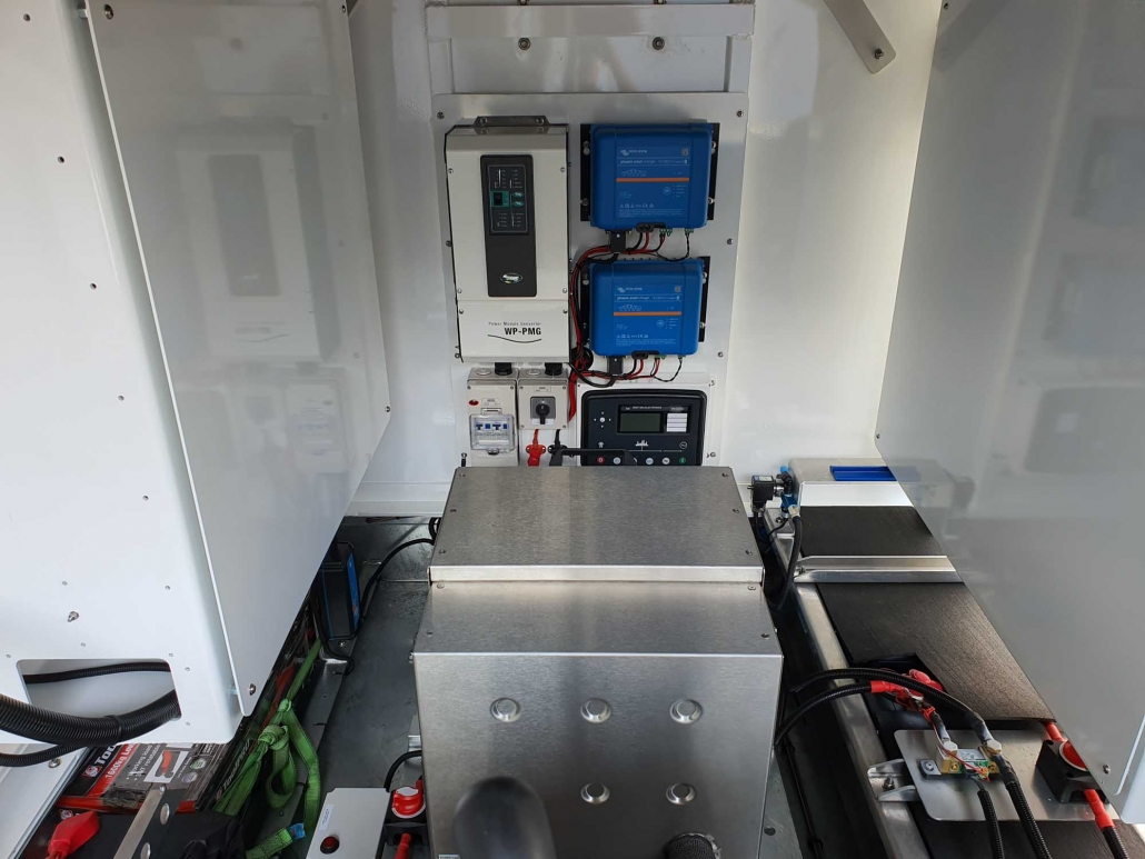 Solar powered security camera trailer towing